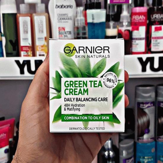 کرم آبرسان چای سبز گارنیر